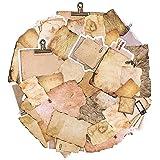 90 pièces papier vintage pour journal, scrapbooking, accessoires de papier pour écrire, dessiner, papier à lettre décoratif e