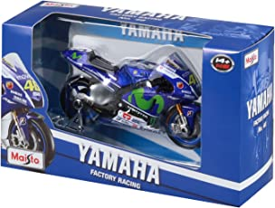 Maisto 34589 - 2015 Yamaha Factory Racing Team (#46), Scala 1:18, Blu