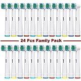Banavos Vervangende opzetborstels, compatibel met Braun Oral B elektrische tandenborstels, precisie, schone reserveborstels,