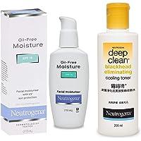 Neutrogena Oil Free Facial Moisturiser, SPF 15, 115ml And Neutrogena Deep Clean Blackhead Eliminating Cooling Toner…