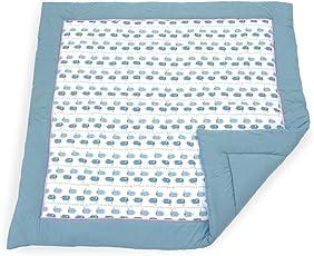 Emma & Noah tappetino bebè, imbottito, caldo e soffice, 120 x 120 cm, ideale anche come copertine per neonato, tappeto per l'area gioco per bambini e rinforzo morbido per box