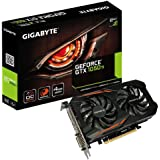 Gigabyte GeForce GTX 1050Ti OC Grafikkarte (4GB, GDDR5,128Bit, 16 x PCI-EXP) schwarz