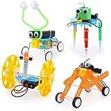 Sntieecr 4 Set Kit de Robótica para Niños, Kit de Construcción Robotica Educativa para Juguetes Electrónicos Stem Robots Bric