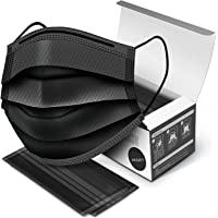 DEEJET Surgical Mask 3 Layer With Nose Clip Pin   Premium Box Packed   Disposable Black Face Mask   Black surgical mask…
