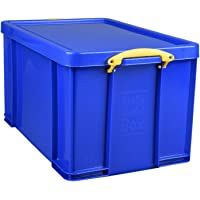 Really Useful 84BCB 84 Litre Storage Box in Card - Solid Blue