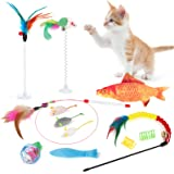 Outgeek 12PCS Cat Interactive Toy Set Funny Assorted Type Bite Resistant Bell Cat Toys