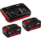 Original Einhell Starter Kit Akku und Ladegerät Power X-Change (Lithium Ionen, 18 V, 2x3,0 Ah Akku und Twincharger, passend für alle Power X-Change Geräte)
