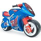 INJUSA - Moto Correpasillos Wind Spiderman XL con Licencia Oficial de Marca Recomendado para Niños +3 Años con Ruedas Anchas