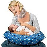 Kradyl Kroft 5in1 Baby Feeding Pillow with Detachable Cover (Blue Star)