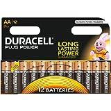 Duracell Plus Mono alkaline batterijen LR20, Grootte AA 12 Stuk oranje/zwart