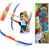 Amitasha Kids Archery Bow and Arrow Toy Set with Target Board Outdoor Garden Fun Game