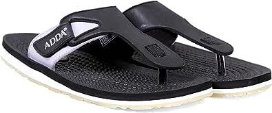 ADDA TARGET-01 || Durable & Comfortable || TPR Sole || Lightweight || Fashionable || Acupressure Footbed || BLACK GREY || UK 7 || Outdoor Slipper || Thong Slipper for Men