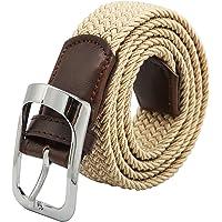 Elastic Braided Belt Unisex Men Women Vintage Casual Elastic Fabric Woven Stretch Size Free