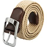 Elastic Braided Belt Unisex Men Women Vintage Casual Elastic Fabric Woven Stretch Size Free