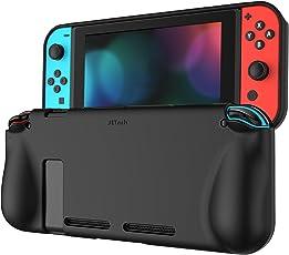 JETech Custodia per Nintendo Switch, Cover con Assorbimento Degli Urti e Anti-Graffio, Nero