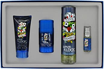 Ed Hardy Love and Luck 4 Piece Gift Set for Men