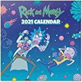 Grupo Erik Official Rick & Morty 2021 Wall Calendar 11.8 x 11.8 inches (12 months - Free Poster Included) Family Planner Cale
