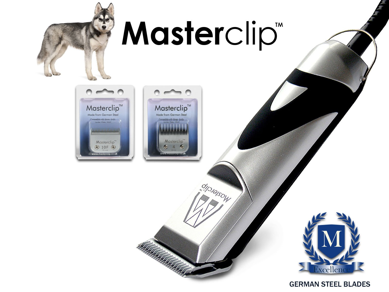Masterclip Siberian Husky Professional Dog Clippers Set Pet Grooming Clipper Trimmer Supplies