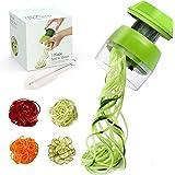 Coupe Légumes - Coupe légume Spiralizer 4 en 1,Spaghetti Légume,Spirale de Légumes Trancheuse pour Courgette Nouilles,Carotte
