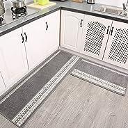 Non Slip Kitchen Rug Set, Modern Simple Mat Runner Durable Washable For Doorway Indoor Outdoor Carpet