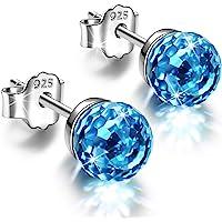 Alex Perry Ohrringe Geschenk für Sie, Fantastic World Series Frauen Ohrstecker, 925 Sterling Silber, 6-8mm Kristalle von…