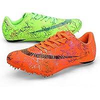 ZRSH Donna Uomo Scarpe di Atletica Leggera, 8 Chiodi Unisex Chiodate Scarpe Scarpe Traspiranti Junior Sprint Spikes…