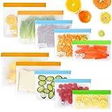 Viedouce 10 Pcs Sac de Conservation Nourriture Réutilisables,Sac Stockage Alimentaire Réutilisables,Sacs à Sandwich Nourritur