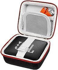 PushingBest Tasche für JBL Go, Harter Eva Schutzhülle Schutztasche für JBL Go, JBL GO 2 Bluetooth Lautsprecher, Netztasche für Ladegeräte und Kabel(Nur Tasche)