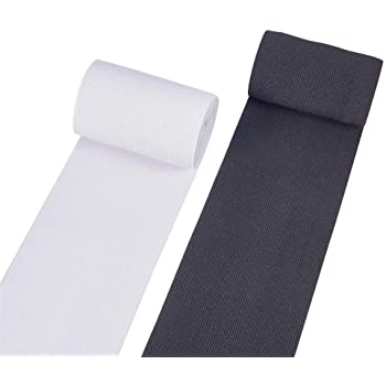 150MM WOVEN ELASTIC WHITE X 1METRE BEST QUALITY 6inch WIDE WHITE ELASTIC