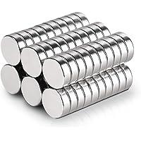 50 Pcs 6 * 1.5mm Disque Terre Rare Néodyme N42 Aimants Ronde, Réfrigérateur Multi-usages, Bricolage, Bâtiment…
