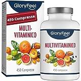 Multivitaminico e Multiminerale - 450 Compresse (Scorta Formato Famiglia per 1+ Anno) - Vitamine A,B,C,D3,E, Calcio, Zinco, S