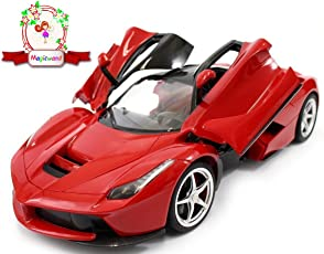 Magicwand High Grade Plastic 1:16 Scale Rechargeable Remote Control LED Ferrari Toy Car (Red, 3688 K1A)