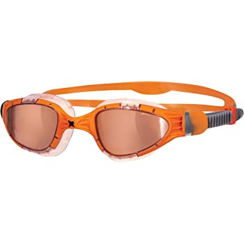 Zoggs Aqua Flex Titanium Gafas de Natación, Hombre, Naranja, Única