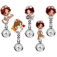 Lancardo [5 Pezzi] Orologio Infermiere con Quadrante Digitale e Decorazione Cartone Animato,Stile di Cartone Animato di…