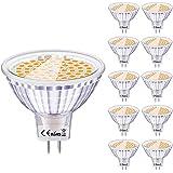 Eofiti Bombillas MR16 LED 12V, LED GU5.3 6W Equivalente a Halogeno 50W Foco GU 5.3 Blanco Cálida 2700K Luz MR 16 Spotlight 54
