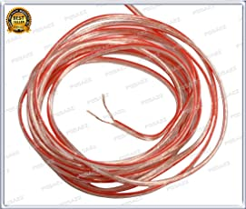 Speaker cables buy speaker cables online at best prices in india pgsa2z speaker wire 5 meter bundle for 2 in 1 5 in 1 greentooth Images