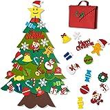 Joyjoz Feltro Albero Natale, Fai-da-Te in Feltro con 32 pz Decorazioni, Decorazioni di Natale da Appendere alla Parete, Kit D