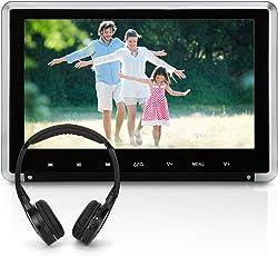 "NAVISKAUTO 10,1"" HD Kopfstütze Monitor DVD Player Dünn 1080P 30Fps Video DVD Memory HDMI Abziehbaren Rahmen IR Köpfhörer(CH1008B+Y0101S )"