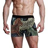 Slip Boxer per Uomo Zebra Traspirante Mutande Colorate Intimo Elasticizzato Morbido ad Asciugatura Rapida Azione Ispirata all