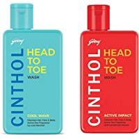 Cinthol Head to Toe Cool Wave, 190ml and Cinthol Head to Toe Active Impact, 190ml