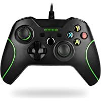 Wired Controller for Xbox one, Techken PC Game Controllers Gamepad with Headset Jack (Black)