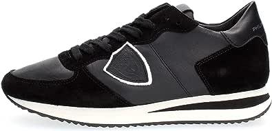 Philippe Model Sneaker Tropez X in Pelle E Suede Nero, Taglia UK: