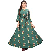 New Ethnic 4 You Women's Fit & Flare Maxi Gown
