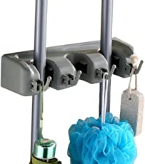 Di Grazia DIY Mop and Broom Holder, Wall Mounted Garden Tool Storage Tool Rack Storage & Organization for Your Home, Closet, Garage and Shed