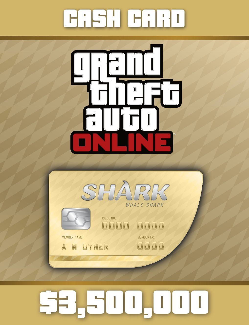 Grand Theft Auto Online | GTA V Whale Shark Cash Card | 3,500,000 GTA-Dollars [PC Code] (Gta V 5 Pc)