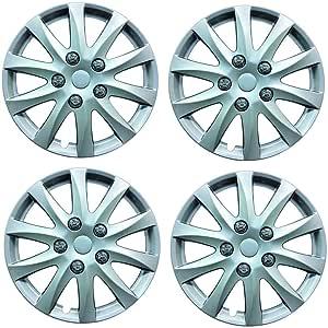 "Peugeot Expert 14/"" Tempest Universal Car Wheel Trim Covers Silver"