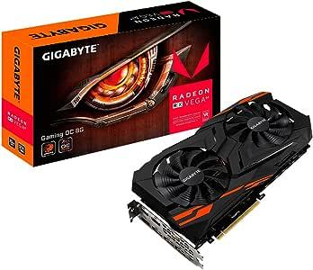 Gigabyte GV-RXVEGA64GAMING OC Radeon RX 8G, HBM2, 3x HDMI, 3x DP Grafikkarte 8GB schwarz