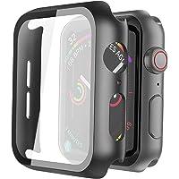 Misxi [2 Pezzi] Nero Cover Apple Watch Series 6 / SE/Serie 5 / Series 4 con Vetro Temperato 44mm, Custodia Rigida iWatch…