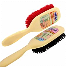 Mega Hb 444 Coat/Clothes/Sofa/Couch/Car Seat/Cleaning Brush (Set of 1 Hard +1 Soft Brush)