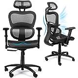 Komene Home Office Computer Bureaustoel, Ergonomisch Swivel Hoge Back, Lumbal Ondersteuning 3D Armleuning, Moderne Fauteuil K